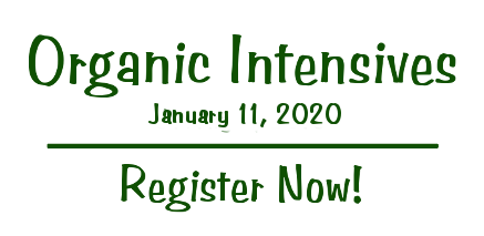 Organic Intensives 2020 - Register Now!